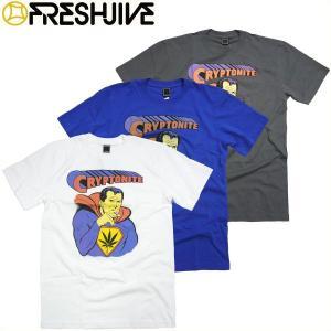 FRESHJIVE CRYPTONITE Tシャツ フレッシュジャイブ スーパーマン ロサンゼルス マリファナ HEMP 麻 メンズ ファッション SUPERMAN|fatmoes
