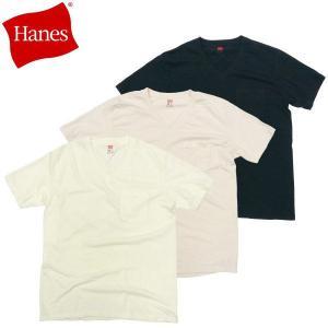 Hanes(ヘインズ) ヴィンテージ シリーズ Vネック ポケットTシャツ クラシック Tee|fatmoes