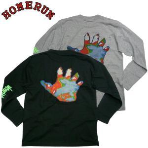 HOMERUN PREDATER ロングスリーブTシャツ ホームラン GRAFFITI ART スケボー スプレー ロンTee Tシャツ ベルトン アート|fatmoes