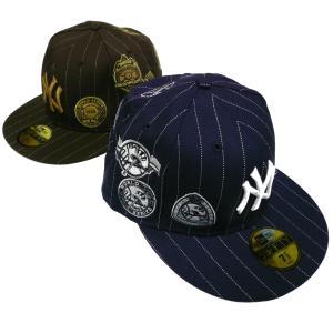 NEWERA ニューエラ CAP【WORLD SERIES 1923-1950】ニューヨークヤンキース NEW YORK YANKEES ピンストライプ ベースボールキャップ|fatmoes