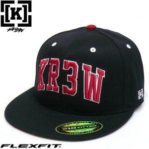 KR3W(クルー)フレックスフィットキャップ TEAM FLEXFIT CAP チームキャップ ツイルキャップ fatmoes