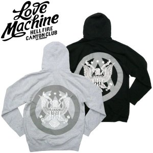 LOVE MACHINE【ラブマシーン】 ALL AMERICAN ジップパーカー HELL FIRE CANYON CLUB DANNY BOY HOUSE OF PAIN  バイカー トライアンフ|fatmoes