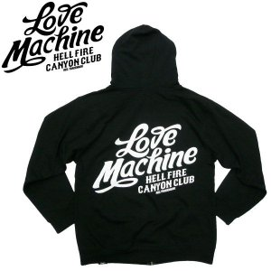 LOVE MACHINE【ラブマシーン】LOVE SCRIPT ジップパーカー HELL FIRE CANYON CLUB DANNY BOY HOUSE OF PAIN  バイカー BIKE BSA|fatmoes