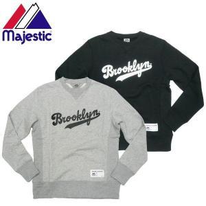 Majestic マジェスティック Brooklyn Dodgers スウエット トレーナーMLB 公式 メジャーリーグ|fatmoes