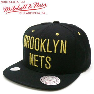 MITCHELL&NESS (ミッチェル&ネス) GOLD NBA BROOKLYN NETS(ネッツ) スナップバック キャップ SNAPBACK CAP fatmoes