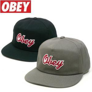 OBEY (オベイ) LANEY SNAPBACK スナップバック キャップ ツイルキャップ fatmoes