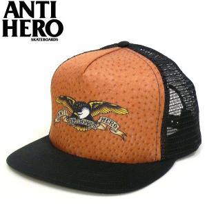 ANTI HERO アンタイヒーロー EAGLE OSTRICH メッシュキャップ オーストリッチ柄 イーグルプリント CAP|fatmoes