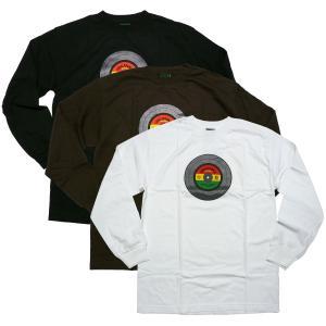 ORGANIKA オーガニカ ラスタカラー レコード ロンT ロングTシャツ レゲエ スケーターブランド スケボー 長袖Tシャツ|fatmoes