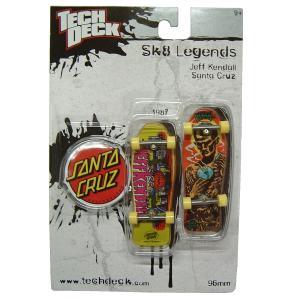 TECK DECK テックデック SANTA CRUZ サンタクルーズ 指スケ スケート ボード スケボーショップ ジムフィリップス SK8 オールドデッキ SKATE