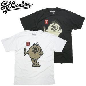 サルバービア SLBarbier 新作 READY MY LIPS 薄手スリムTシャツ キャラクター SLB スケーターTee アメカジ fatmoes