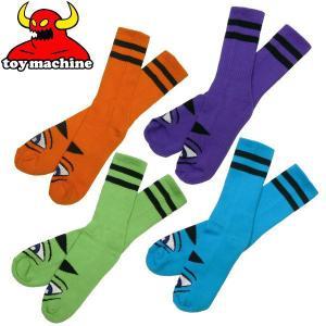 TOY MACHINE(トイマシーン )モンスター ソックス 靴下 SECT EYE カラーソックス エド・テンプルトン キャラクター スケボー スケート スケーターブランド|fatmoes