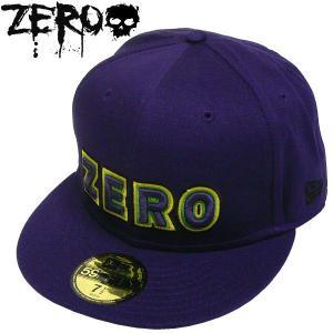 ZERO【ゼロ】 NEWERA ロゴ CAP パープル ニュウエラ SK8 SKATE スケート ニューエラー スケボー スカル パンク  ロック キャップ CAP|fatmoes