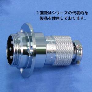 即納 NCS-254-AD(F) 七星科学研究所 丸型メタルコネクタ シェルサイズ25 4芯 フランジ付きアダプタ 正芯(ピンコンタクト)|faubon