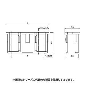 即納 XAP-04V-1 日本圧着端子・JST プリント基板用 XAコネクタ 定格電流 3A 250V ピッチ2.5mmハウジング