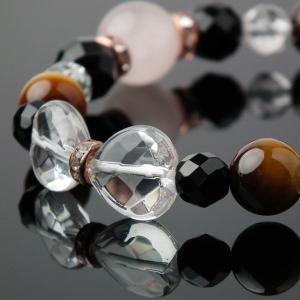 天然石 ブレスレット ローズクォーツ タイガーアイ オニキス 水晶 天然石 パワーストーン ブレスレット favonistone 03