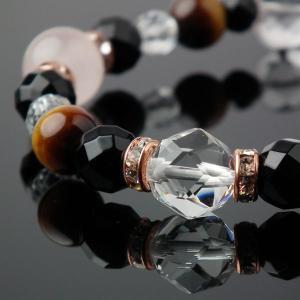 天然石 ブレスレット ローズクォーツ タイガーアイ オニキス 水晶 天然石 パワーストーン ブレスレット favonistone 04
