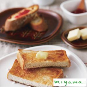 miyama ミヤマ crust クラスト パン皿 アイボリー 小枝柄ドット柄 美濃焼|favoritestyle