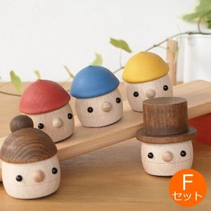 [クーポン配布中] おもちゃのこまーむ Fセット(どんぐり坂 赤・どんぐりぱぱ・どんぐりまま・どんぐりころころ3個) 木のおもちゃ 木製 知育 玩具 日本製|favoritestyle