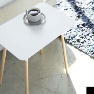 サイドテーブル 角型 PLAIN プレーン 山崎実業 スチール 木製 スリム スタイリッシュ ミニテーブル 作業台 03507 03508|favoritestyle