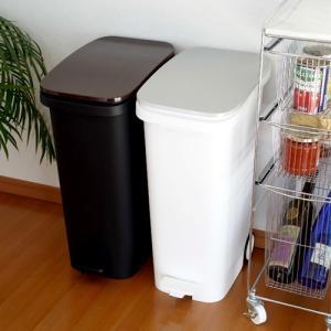 ゴミ箱 おしゃれ ペダル式 蓋付き スリム 31 RISU リス 蓋付きゴミ箱 キャスター付き 静音 メタル ウッド おしゃれ リビング キッチン|favoritestyle