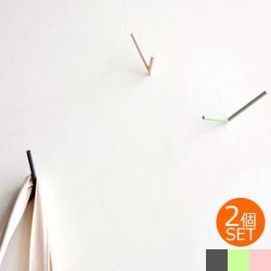 壁掛け フック ウォールフック おしゃれ V Hooks 2個セットスチール製 ハンガー 帽子掛け シンプル 壁 ウォールハンガー 見せる収納 Chihong|favoritestyle