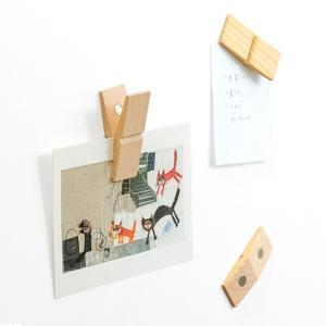 CLIP CLAP クリップ クラップ 木製 ウッドクリップ マグネット メモスタンド メモクリップ カードスタンド ピンチ PINCH 写真 おしゃれ|favoritestyle