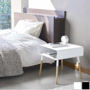 ローサイドテーブル PLAIN プレーン 山崎実業 スチール サイドテーブル ホワイト ブラック 04229 04230|favoritestyle