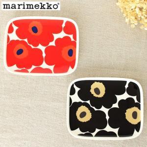 マリメッコ ウニッコ プレート 15×12cm 花柄 長方形 ミニプレート marimekko Unikko 北欧 食器|favoritestyle