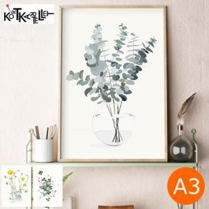 ポスター 北欧 A3 デンマーク アートポスター ボタニカ ユーカリプタス ベリス ラッキークローバー 植物 Kortkartellet コートカルテレット|favoritestyle