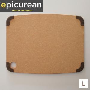 【取扱終了】エピキュリアン カッティングボード まな板 グリップ付 滑り止め付 L サイズ 薄型 木製 おしゃれ 食洗機対応 epicurean favoritestyle