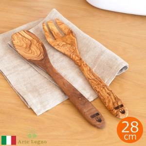 サラダサーバー サーバースプーン サーバーフォーク セット 木 木製 Arte Legno アルテレニョ オリーブ キッチンツール イタリア おしゃれ|favoritestyle