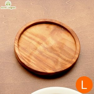 Arte Legno アルテレニョ ラウンドコースター L 木 木製 職人さんの手作り 卓上小物 トレイ トレー イタリア おしゃれ 485164|favoritestyle