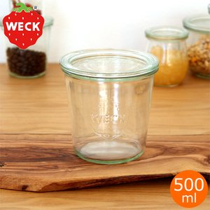 WECK キャニスター ガラスキャニスター モールドシェイプ Mold Shape 500ml ウェック 保存容器 保存瓶 WE-742|favoritestyle