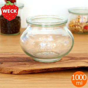 WECK キャニスター ガラスキャニスター デコシェイプ Deco Shape 1000ml ウェック 保存容器 保存瓶|favoritestyle