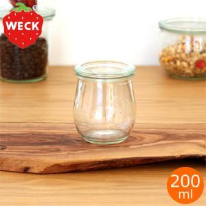 WECK キャニスター ガラスキャニスター チューリップシェイプ Tulip Shape 200ml ウェック 保存容器 保存瓶 WE-762|favoritestyle