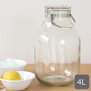 セラーメイト 取手付密封びん 4L 保存容器 保存瓶 果実酒 瓶 ガラス瓶 密封瓶 大容量 星硝 日本製|favoritestyle