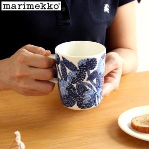 [クーポン配布中] マリメッコ ミンステリ マグカップ 250ml marimekko Mynsteri 花柄 北欧 食器 コップ 取っ手付き ブルー|favoritestyle