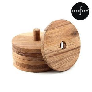 【取扱終了】コースター 木製 北欧 サガフォルム(sagaform) oval oak オーク マグコースター 6枚セット|favoritestyle