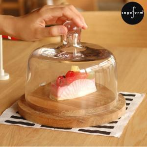 【取扱終了】チーズドーム ケーキドーム ガラスドーム ケーキカバー 手吹きガラス サガフォルム sagaform 北欧 デザイン 保存容器 ギフトボックス付き|favoritestyle