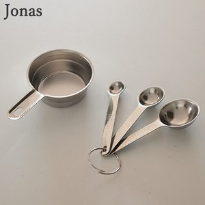 【取扱終了】ヨナス Jonas 計量スプーン&計量カップセット ステンレス Measuring set 4 pcs 4点セット 北欧 計量カップ 計量スプーン 512016|favoritestyle
