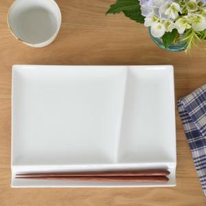 ミヤマ イゾラ パレットプレート L miyama isola 白磁 皿 仕切り皿 日本製 59-007-10|favoritestyle