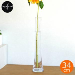 サガフォルム フラワーベース ガラス 一輪挿し 花瓶 おしゃれ H34cm 花器 シンプル クリア 枝も の 実もの 北欧 bubbla vase|favoritestyle