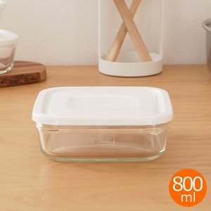 [クーポン配布中] iwaki イワキ パック&レンジ ホワイト 800ml 角型 保存容器 耐熱ガラス 耐熱容器 PACK&RANGE A6595 favoritestyle
