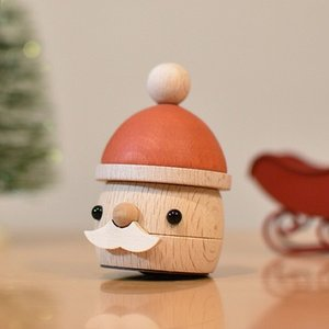 [クーポン配布中] おもちゃのこまーむ どんぐりサンタ クリスマス 飾り サンタクロース 木製 日本製|favoritestyle