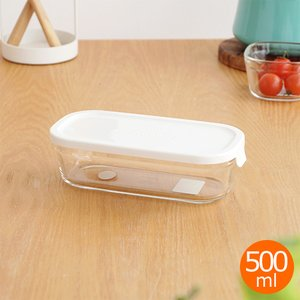 iwaki イワキ パック&レンジ BOX ハーフ ホワイト 500ml 角型 保存容器 耐熱ガラス 耐熱容器 PACK&RANGE CYY3246-W|favoritestyle