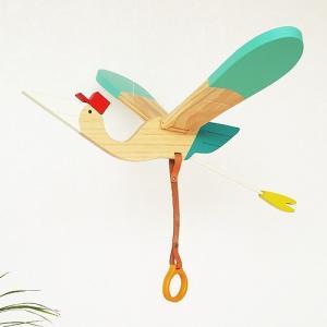 モビール 鳥 木製 eguchi toys Mobile Bird Baby bird  子供部屋