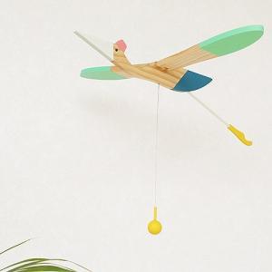 モビール 鳥 木製 eguchi toys Mobile Bird Mini bird 迷〓鳥 羽ばたく 動く 大きい 子供部屋
