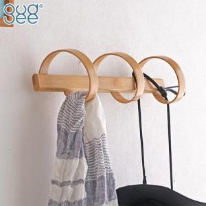 GUDEE 壁掛けフック ウォールハンガー 3連 竹製 木 ウォールフック バンブー ナチュラル 収納 Spiro-bamboo hook 3hook GudeeLife favoritestyle