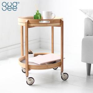 GUDEE キッチンワゴン キャスター付き 2段 キッチンカート サイドテーブル トレー 竹 おしゃれ 布 Roca-Bath / Bar cart GudeeLife|favoritestyle