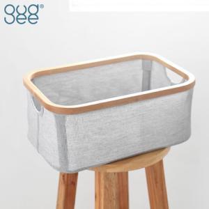 GudeeLife 収納 バスケット カゴ レクタングル 収納ボックス 折りたたみ ストレージボックス おしゃれ 収納ケース 長方形 自立 竹 布|favoritestyle